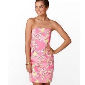 Lilly Pulitzer Franco Floral Strapless Dress